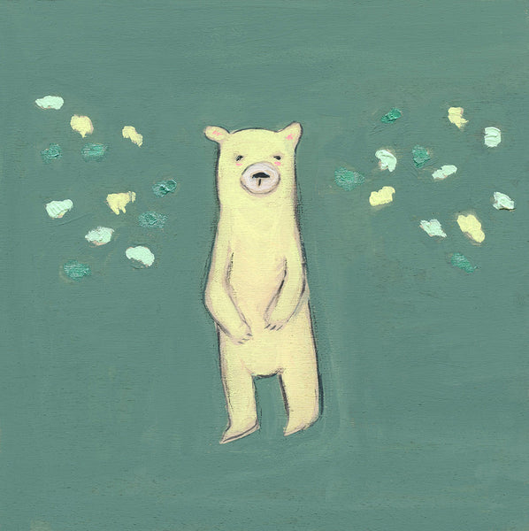 green bear | canvas or mini framed canvas | 1 of each available