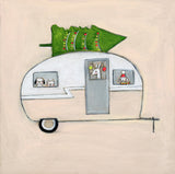 happy holiday camper | canvas or mini framed canvas | 1 of each available