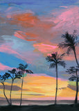 hawaii sunset | mini framed canvas