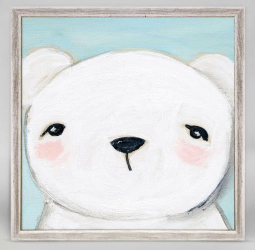 hello bear |  mini framed canvas