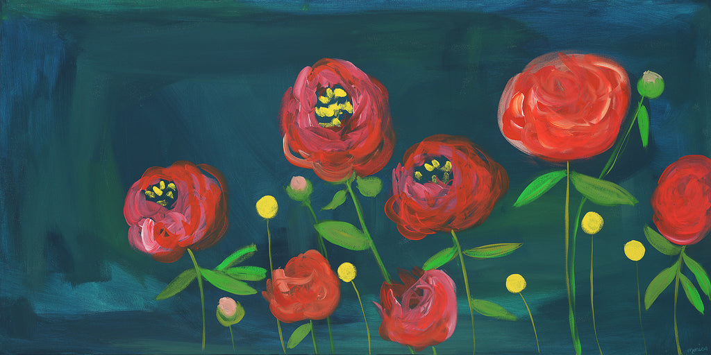peony bunch | canvas | 2 available