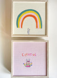 Rainbow Bear | canvas or framed mini