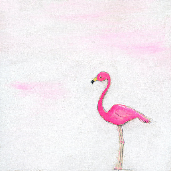 pink flamingo | canvas -  mini canvas - print