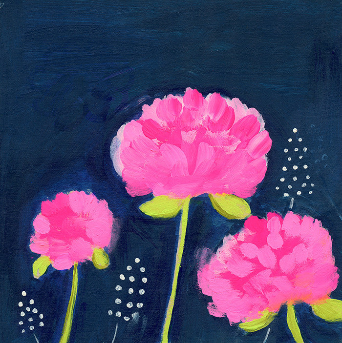 pink peonies | canvas | mini framed canvas | 1 of each available