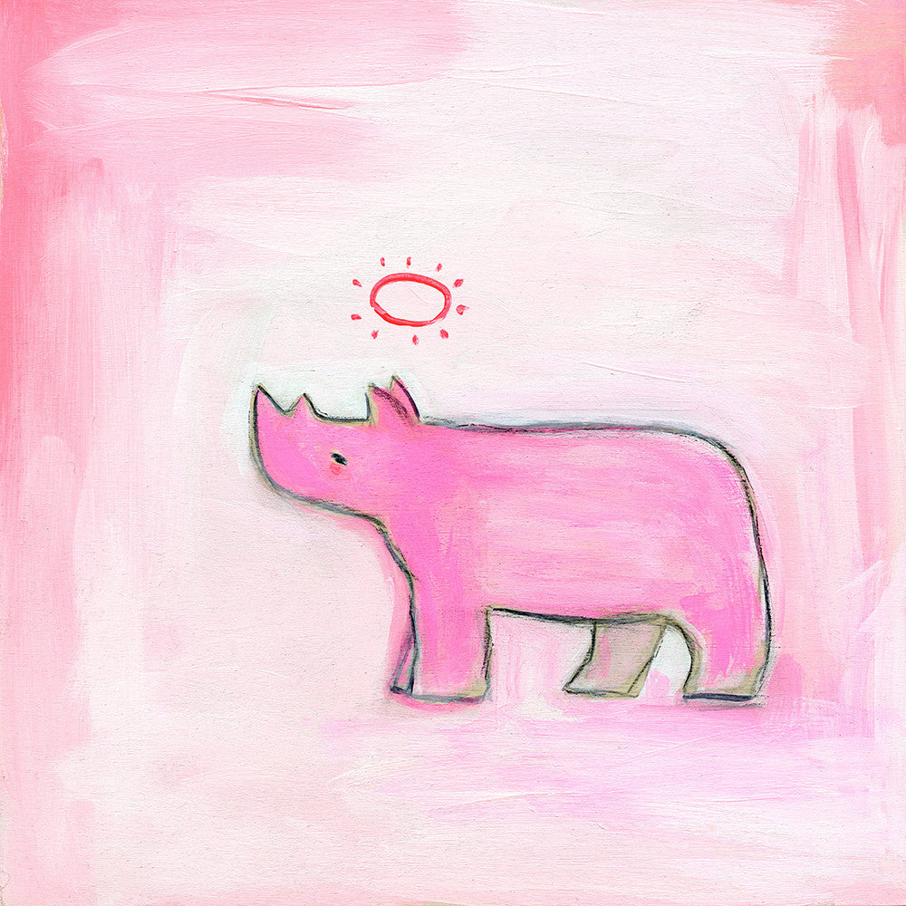 hopeful rhino | print