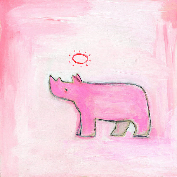 hopeful rhino | original