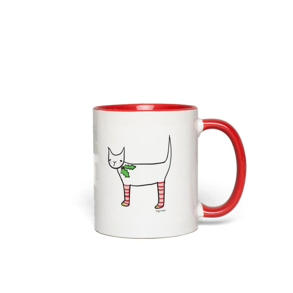 Christmas Cat | Mug {2 color choices}