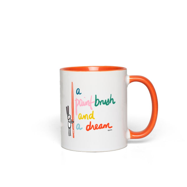 A Paint Brush and a Dream | Mug {5 color choices}