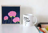 straw flowers | canvas or mini framed canvas | 1 of each available