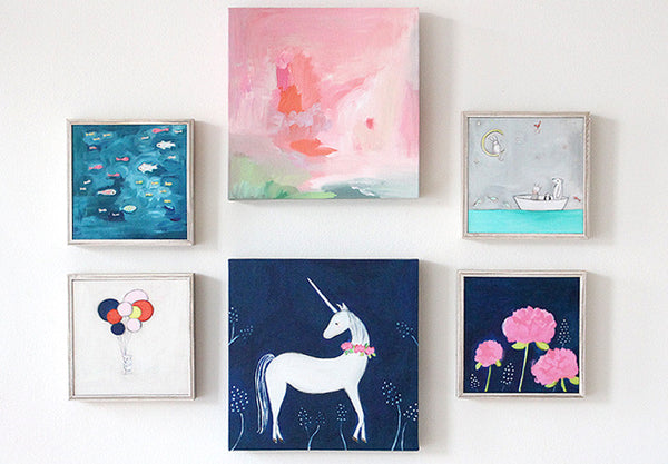 Calm Cool Collected- Soft Blue | canvas or mini framed canvas | 1 of each available