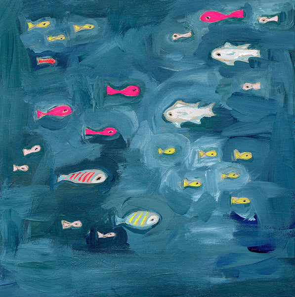 school of fish | canvas | 1 available