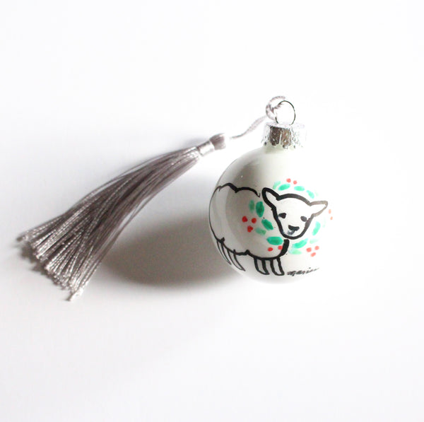 Holiday Sheep Ornament