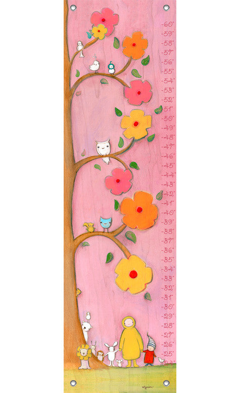 Sunny Gathering Growth Chart {pink} | Made to Order