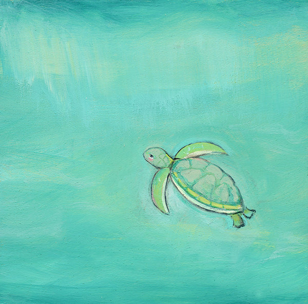 Swimming with the Sea Turtle | print