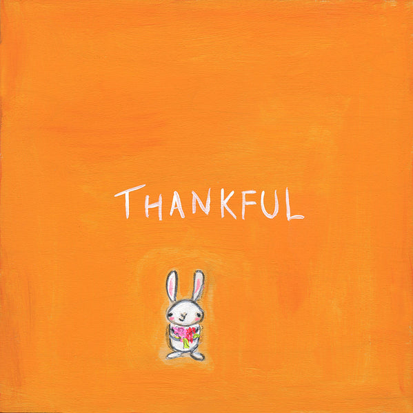 thankful bunny | print