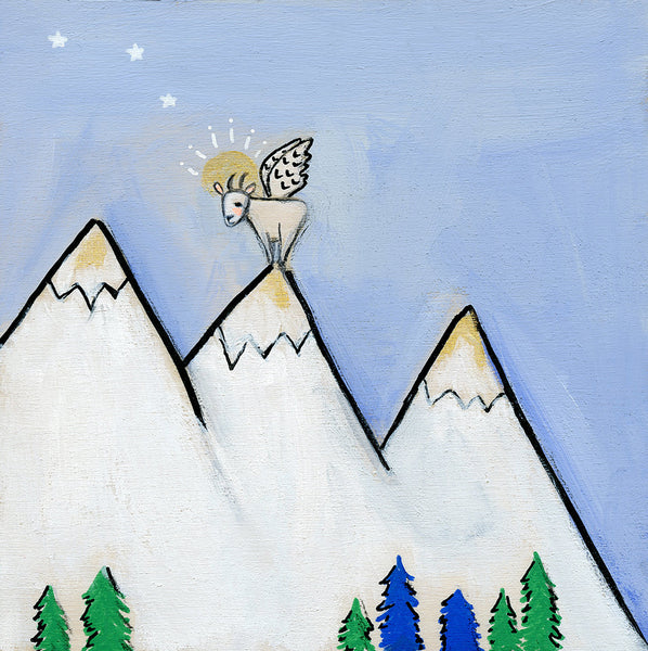 Tiny Mountain Goat Angel | original