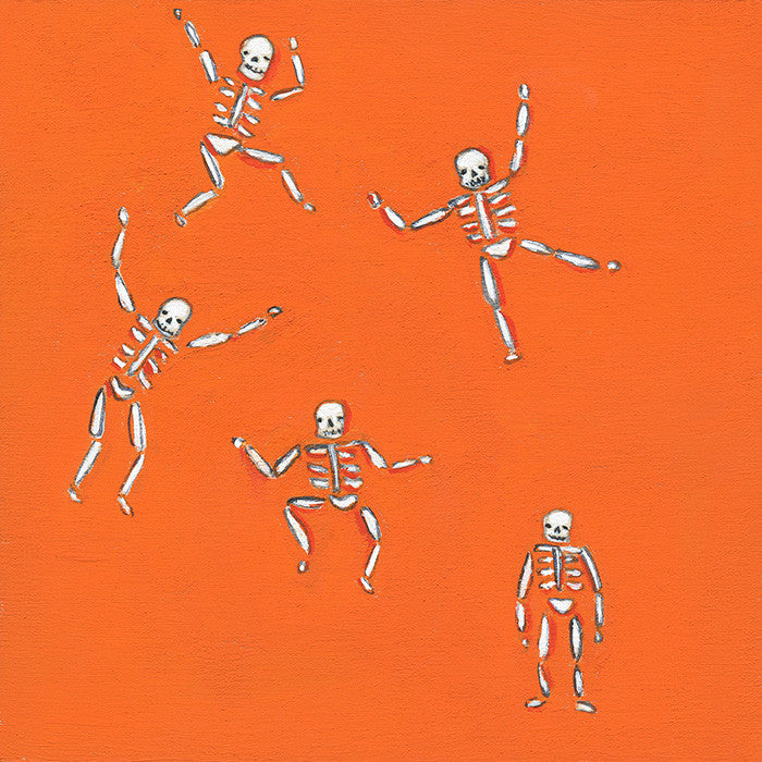 tiny skeletons {orange} | original