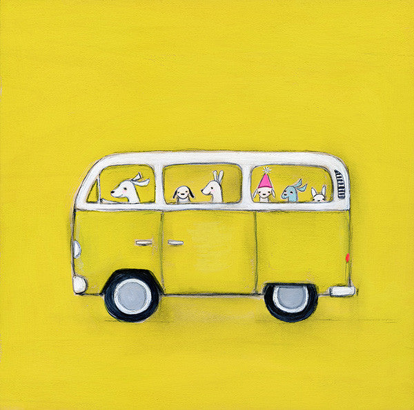 yellow VW | print