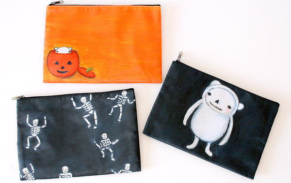 polar bear pumpkin | zipper pouch