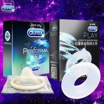 Condoms or Condoms and Pleasure Ring for Men