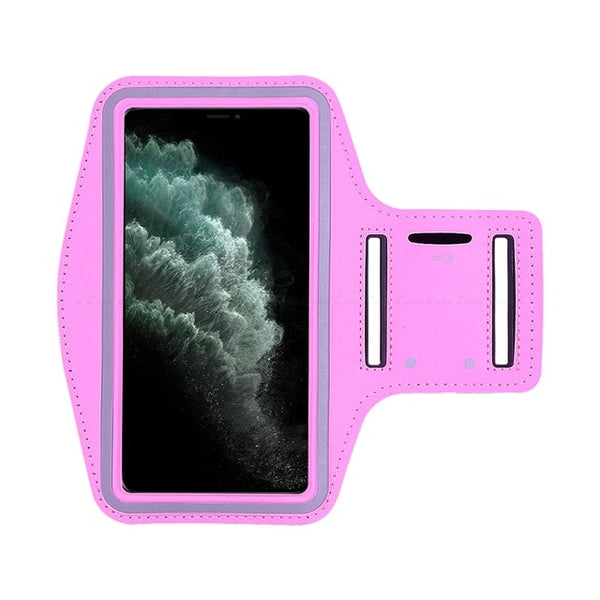 Pink Waterproof Sports Arm Band Holder For iPhone