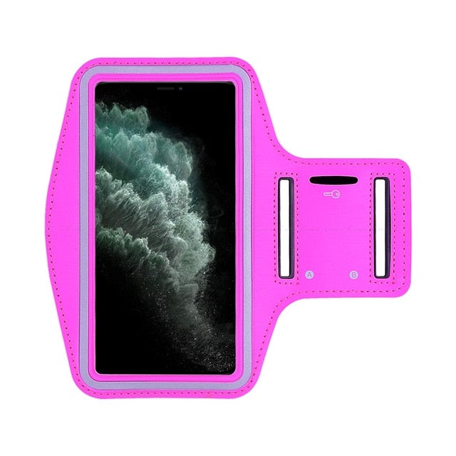 Rose Colored Waterproof Sports Arm Band Holder For iPhone