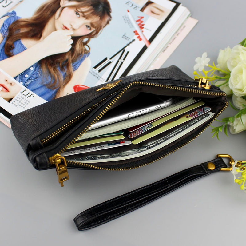 Interior Picture of Women's Genuine Leather Clutch