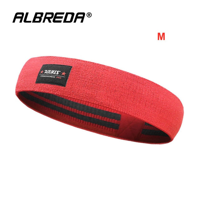 Red Women's Resistance Training Stretch Band
