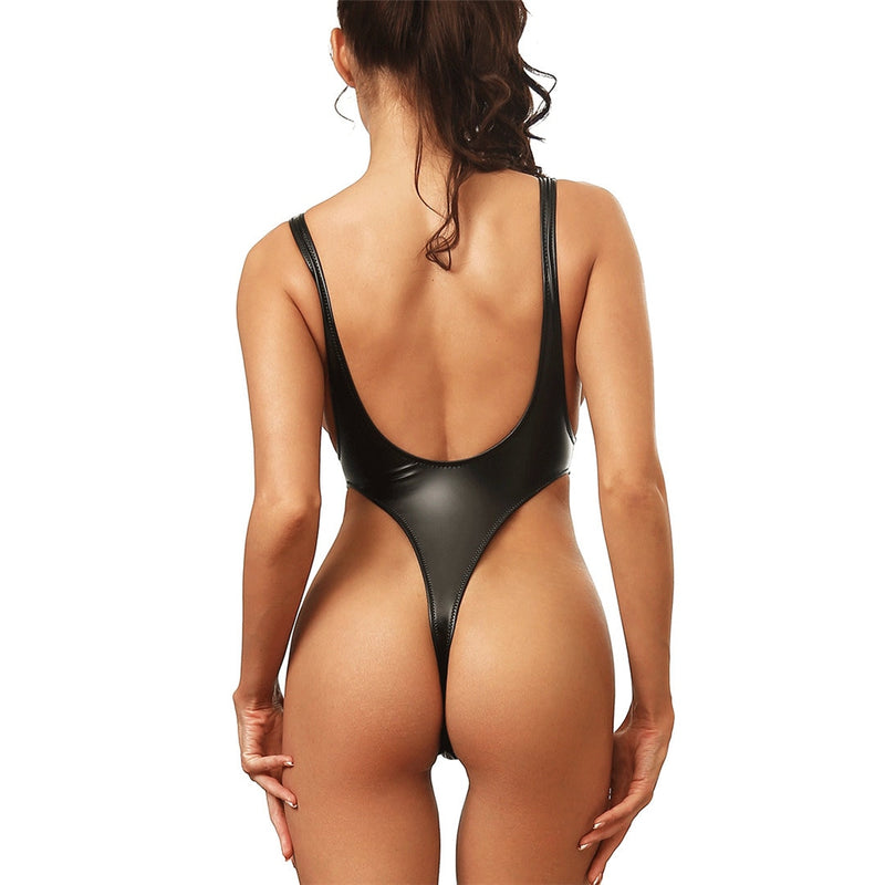Sexy Women's Tummy Cut Out Thong One Piece Swimsuit