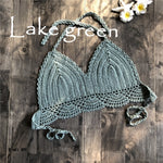 lake green crochet bikini top