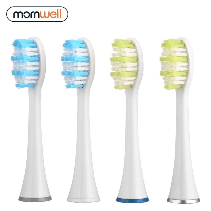 Replacement Toothbrush Heads with Caps for Mornwell D01/D02 Electric Toothbrush