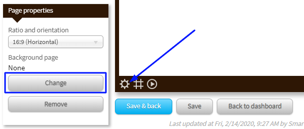 using a background page for audio with smartsign2go