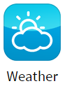 Weather app for digital signage