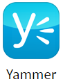 Yammer app for digital signage
