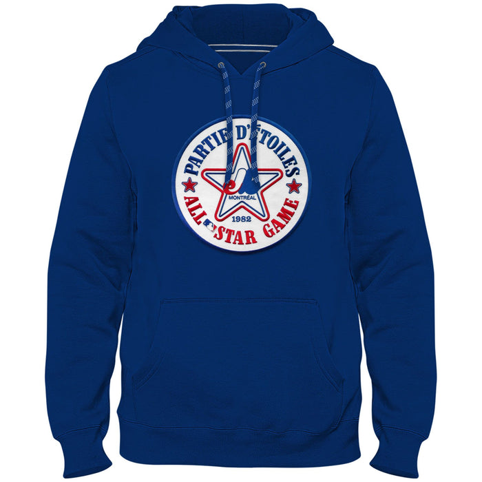 Montreal Expos Cooperstown MLB Royal Blue 1982 All Star Game Twill Logo Hoodie