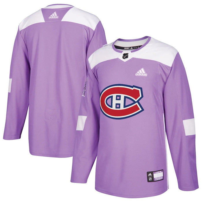 Montreal Canadiens Adidas Hockey Fights Cancer Practice Jersey
