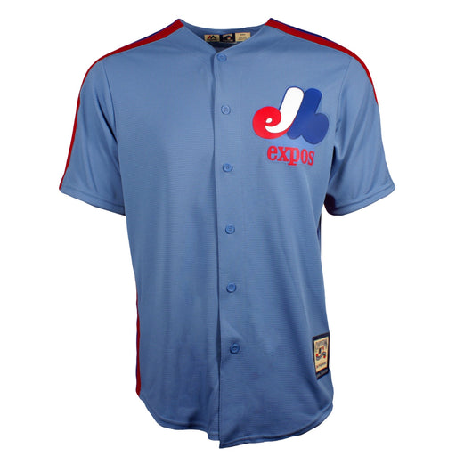 Montreal Expos Cooperstown Columbia Blue Replica Jersey