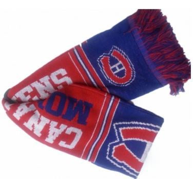 Montreal Canadiens Multi Logo Red Scarf