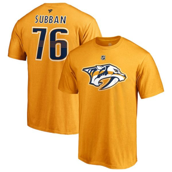 P.K Subban Nashville Predators Fanatics Yellow Authentic T-Shirt