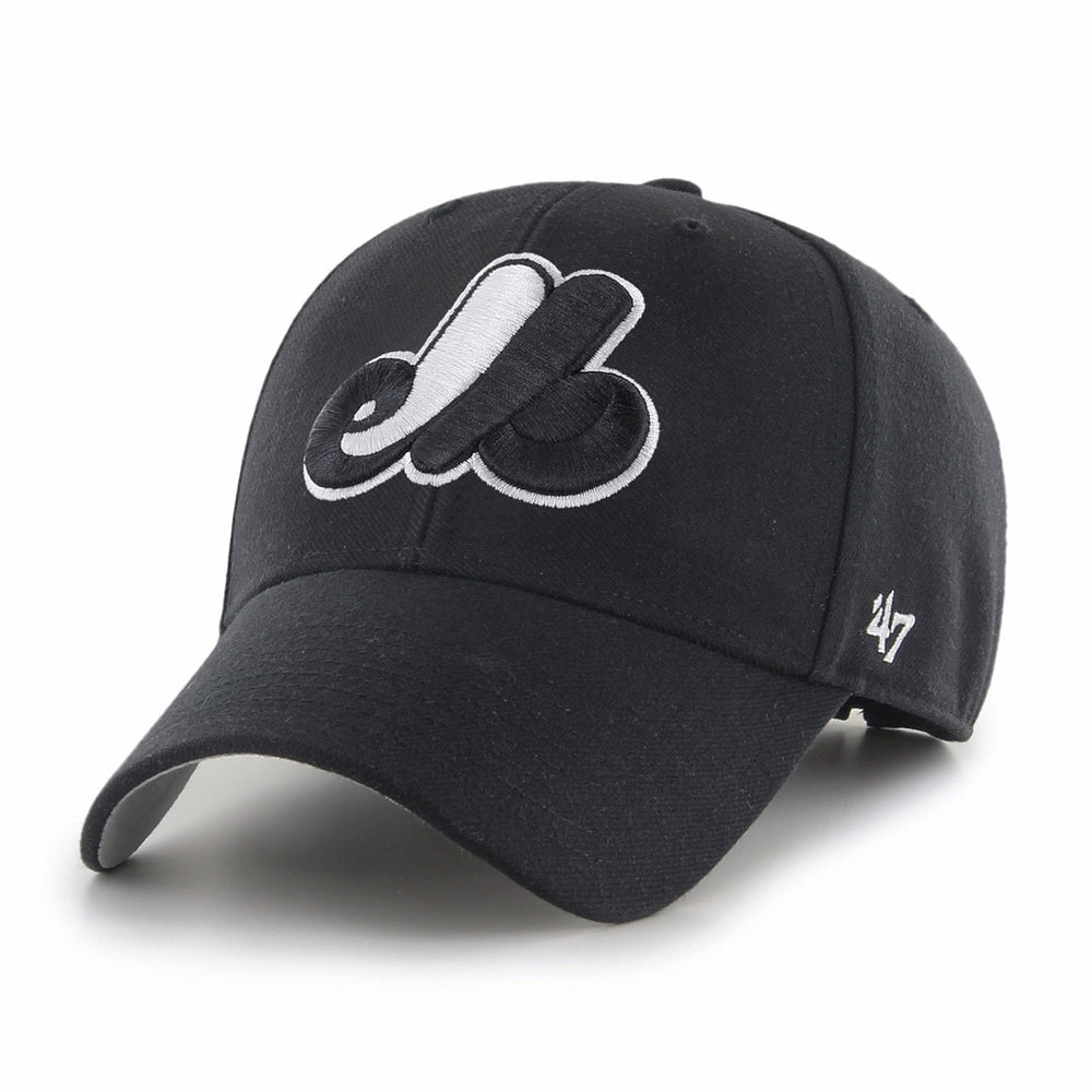 Montreal Expos 47 Black MVP Adjustable Hat