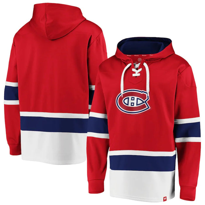 Montreal Canadiens Fanatics Red Dasher Hoodie