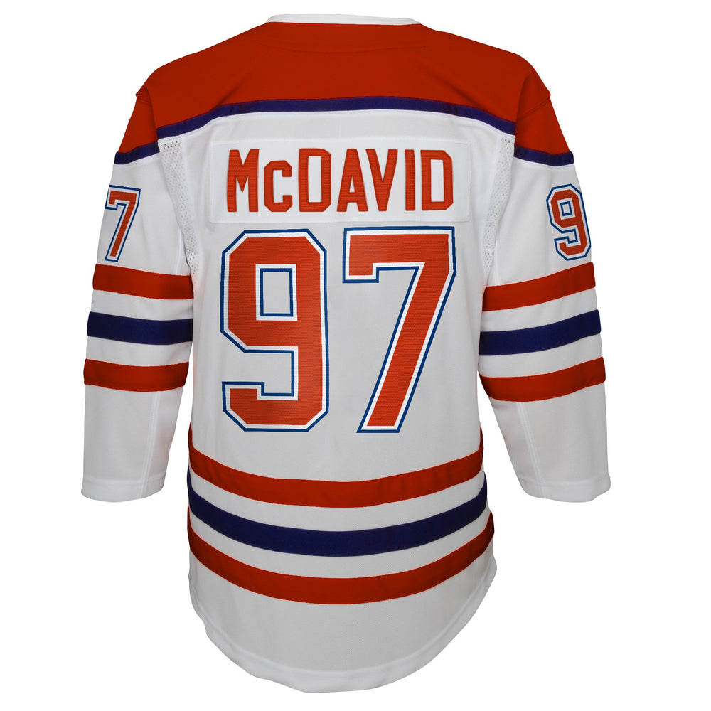 Connor McDavid Edmonton Oilers Youth White Special Edition Premier Jersey