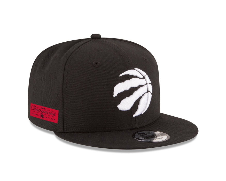 Toronto Raptors New Era 9Fifty Black Silver NBA Champions Hat Side Rectangle Patch Snapback