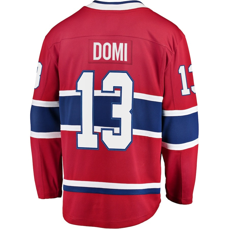 Max Domi 13 Montreal Canadiens Youth Red Premier Jersey