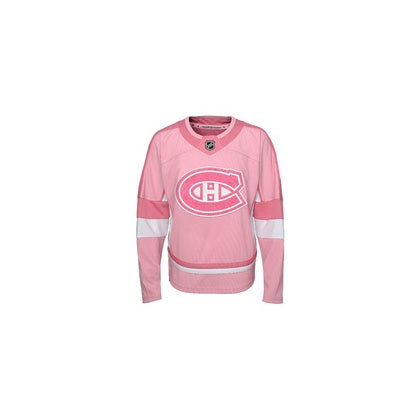 Montreal Canadiens Girls Youth Pink Jersey