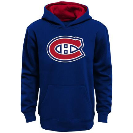 Montreal Canadiens Youth Navy Prime Pullover Fleece Hoodie