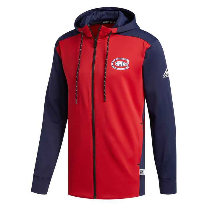 Montreal Canadiens Adidas Red Full Zip Hoodie