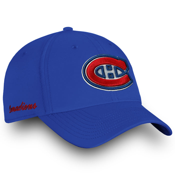 Montreal Canadiens Blue Fanatics Womens Elevated Core Adjustable Hat