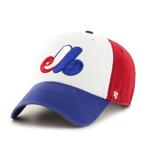 Montreal Expos 47 Youth Tri Color Clean Up Adjustable Hat