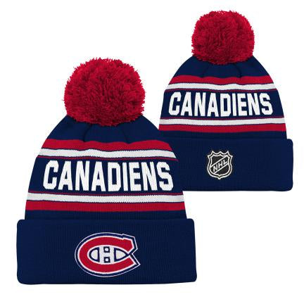 Montreal Canadiens Boys Wordark Cuffed Pom Knit Hat